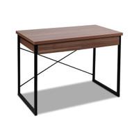 Metal Desk with Drawer - Walnut