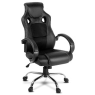 Racing Style PU Leather Office Chair - Black