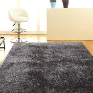 Designer Shaggy Floor Rug Grey 200x140cm