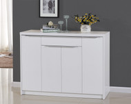 High Gloss White Wooden Storage Shoe Cabinet Stainless Steel 4041 Anna