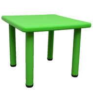 Kids Toddler Children Square Playing Activity Party Table Green Small
