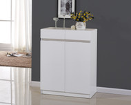 80CM Wooden Shoe Cabinet High Gloss White