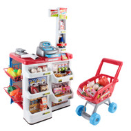 Supermarket Pretend Play Set Red White