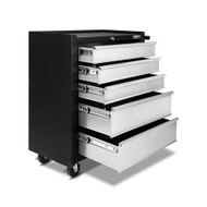 5 Drawer Mechanic Tool Box Trolley - Black & Grey