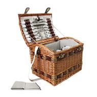 4 Person Picnic Basket - Brown