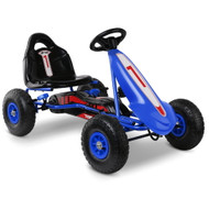 Kids Pedal Powered Go Kart - Blue