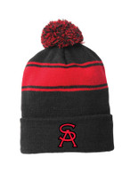 St. Anne's Striped Pom Pom Beanie