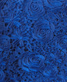Swiss Voile Guipure Lace Blouse - Royal Blue