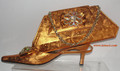 Diamond Italian Shoes & Bag - Orange