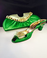 Italian Matching Shoe and Bag: Grass Green - 42