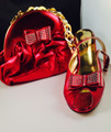 Italian Matching Shoe and Bag: Wine Red