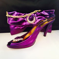 Andrea Massari Italian Matching Shoe and Bag: Purple