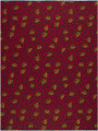 Vlisco Wax Block - Branches Red (Ugbolobi)
