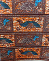 Vlisco Wax Block - Quail Brown Orange