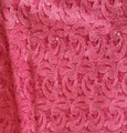 Guipure Lace - Hot Pink - Lurex - Beads