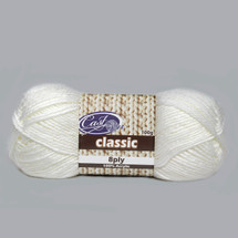 Cast On Classic 8ply Snow - 10 pack
