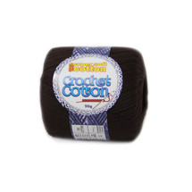 Crochet Cotton Chocolate 50g - 10 Pack