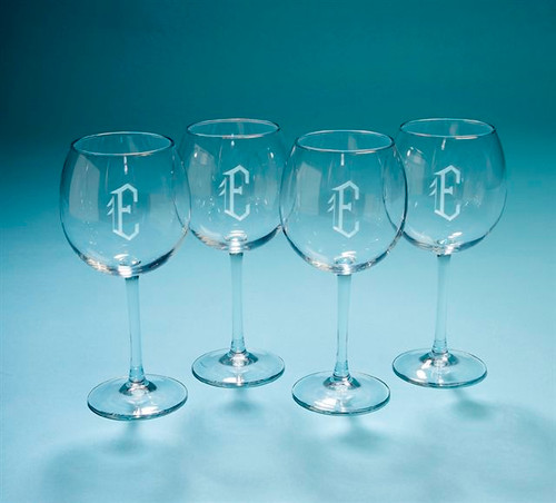 Personalized Barolo Balloon Wine Glasses