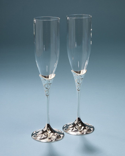 Personalized Wedding Promises Opal Innocence Toasting Flutes, by Lenox