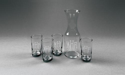 Personalized Carafe Juice Set