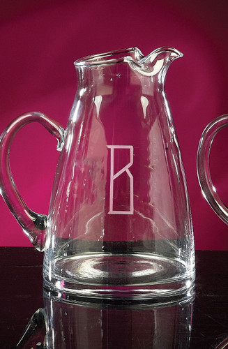 Personalized Crystal Tower Pitcher