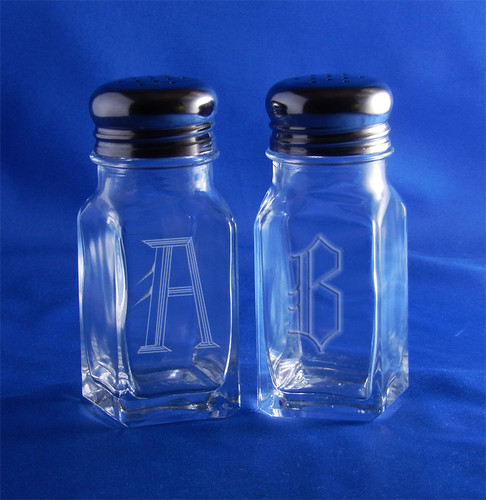 Monogrammed Salt & Pepper Set
