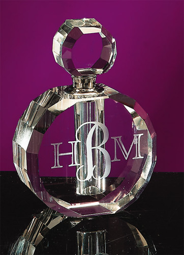 Large Crystal Round-Top Perfume Bottle
