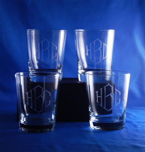Personalized Flared DOF Highball Glasses