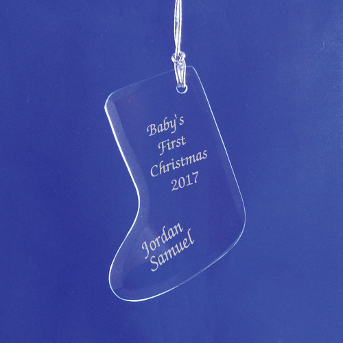 Personalized Baby's First Christmas Stocking Ornament