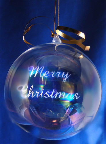 Personalized 120mm Round Glass Blown Ornament