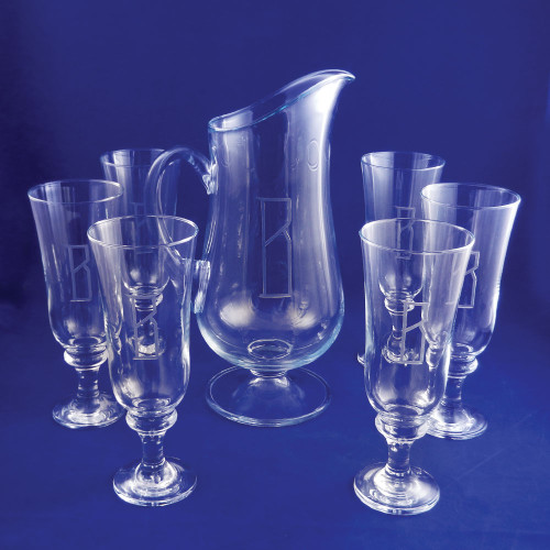Monogrammed Capricorn Drink Set, 7-Pieces