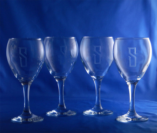 Personalized Rubicon Crystal Wine Glasses