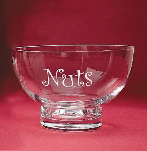 Personalized Small Crystal Pedestal Bowl