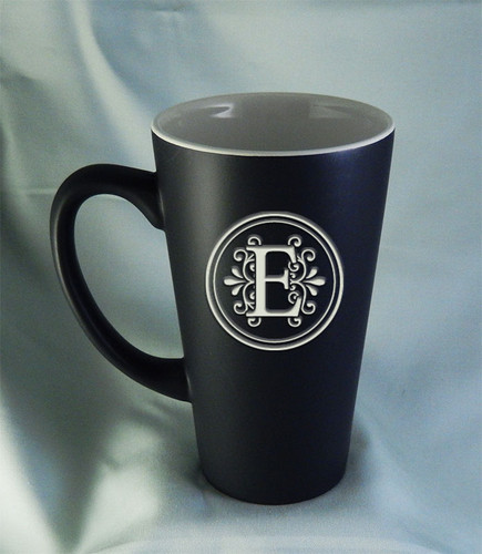 Large 16oz Matte Black Funnel Mug