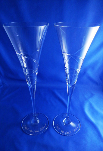 Personalized Crystal Adorn Toasting Flutes by Lenox