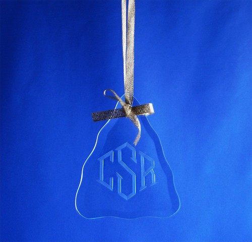 Personalized Hand-Engraved Christmas Tree Shaped Ornament