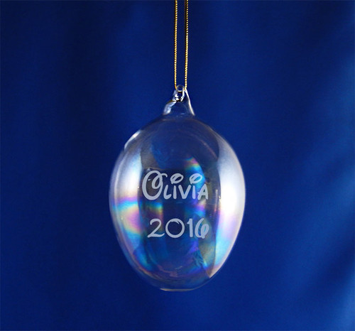 Personalized Glass Blown Egg Ornament