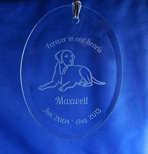 Personalized Dog Memorial Ornament