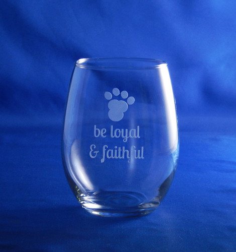 Dog Wisdom 15oz Stemless Wine Glass