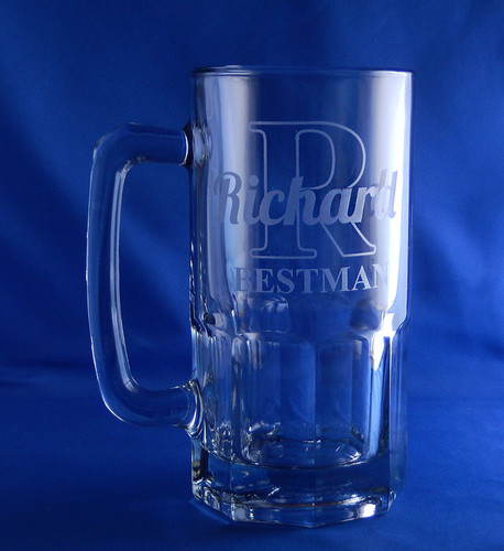 Personalized Initial Liter Beer Mug