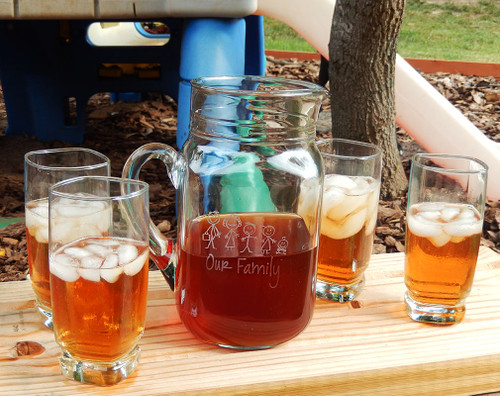 Personalized Our Family Pitcher Set