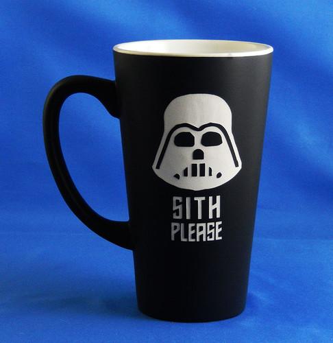 Personalized Black Star Wars Darth Vader Mug