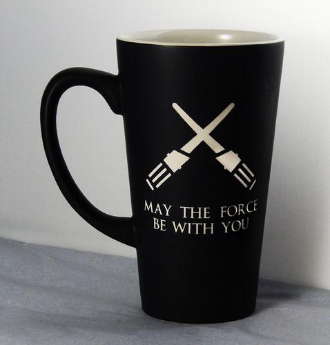 Personalized Black Star Wars Light Saber Mug