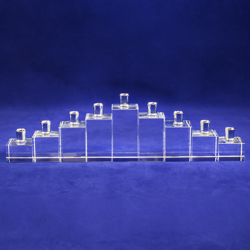 Crystal Menorah by Oleg Cassini