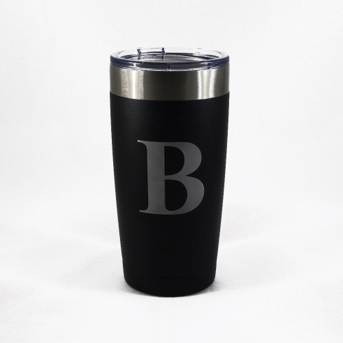 Personalized Black Powder Coated MANTA Insulated Tumbler Mug