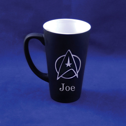 Personalized Black Star Trek Mug