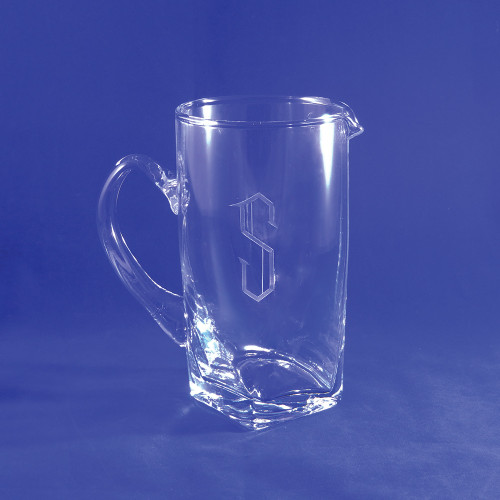 Personalized Sterling Box Pitcher