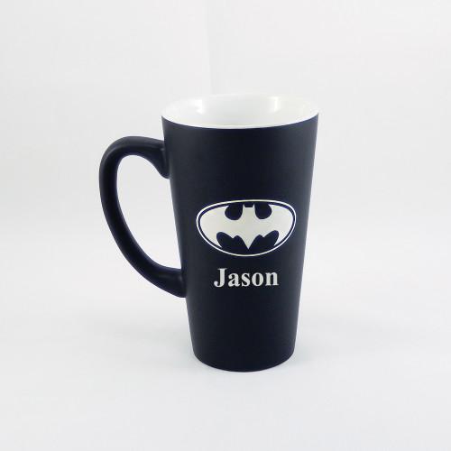 Personalized Black Batman Mug