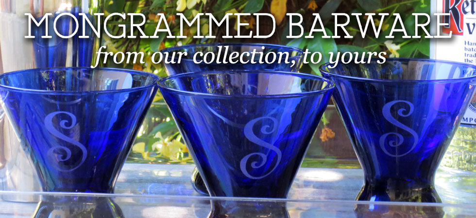 Explore The Crystal Shoppe's Collection of Monogrammed Barware