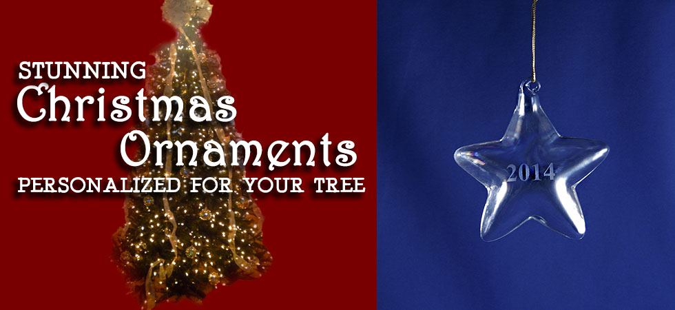 The Crystal Shoppe's Collection of Personalized Christmas Ornaments to decorate your Tree